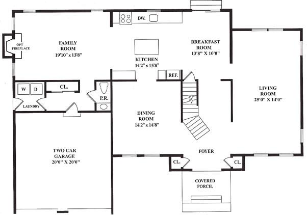 The oxford ii floor plans island estates homes for Oxford floor plan